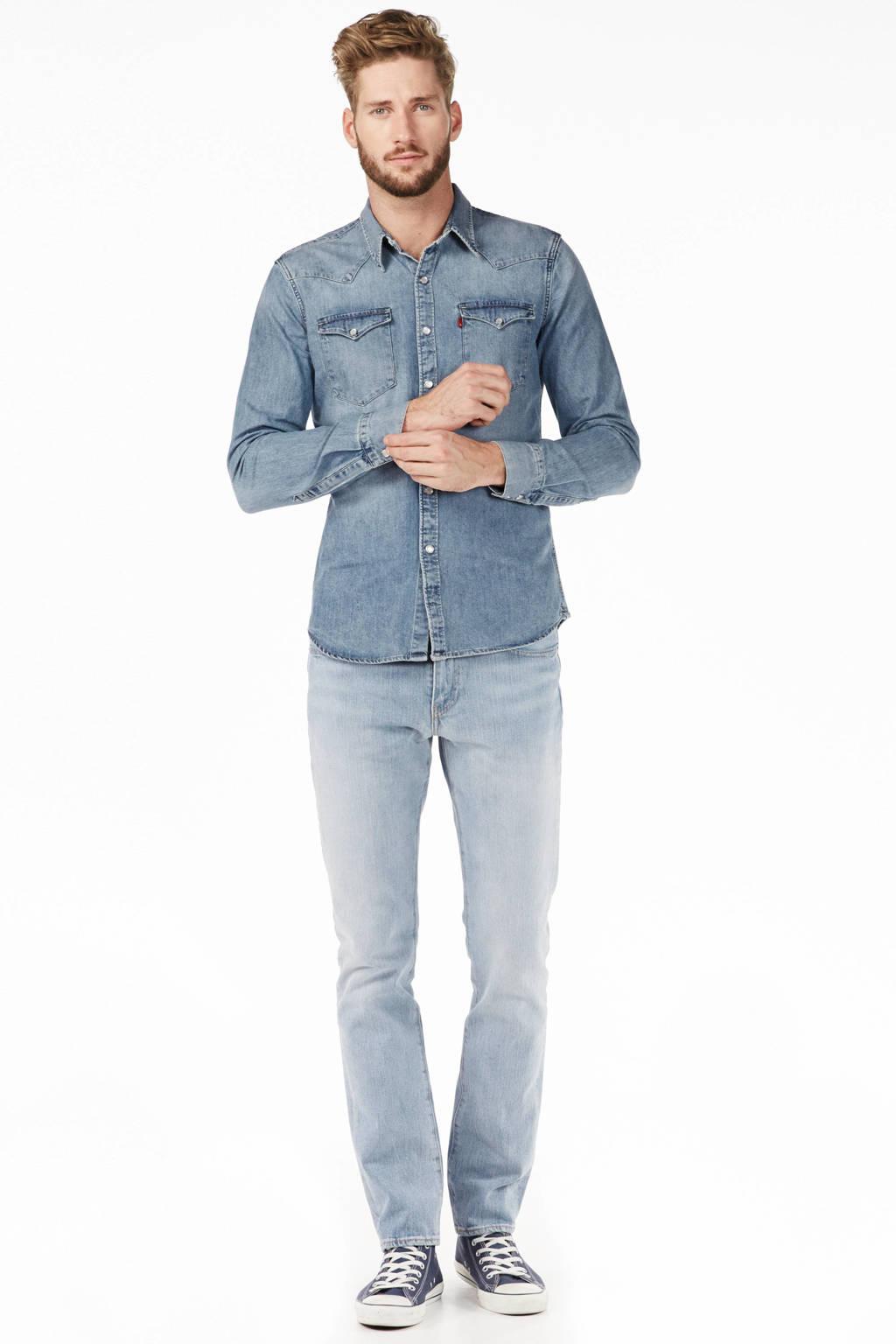 Heren Overhemd Met Drukknopen.Levi S Denim Overhemd Wehkamp