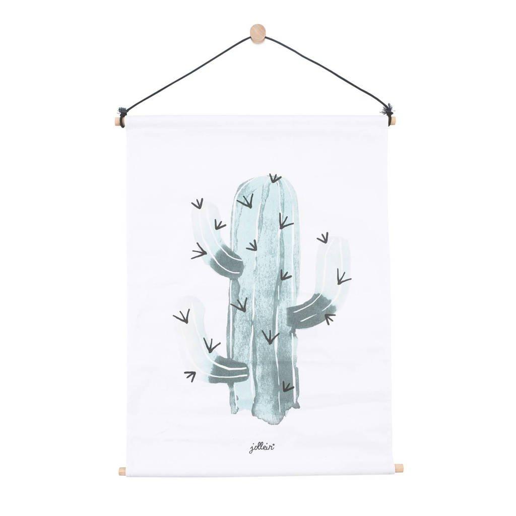 Jollein poster 42x60cm canvas Cactus, Groen
