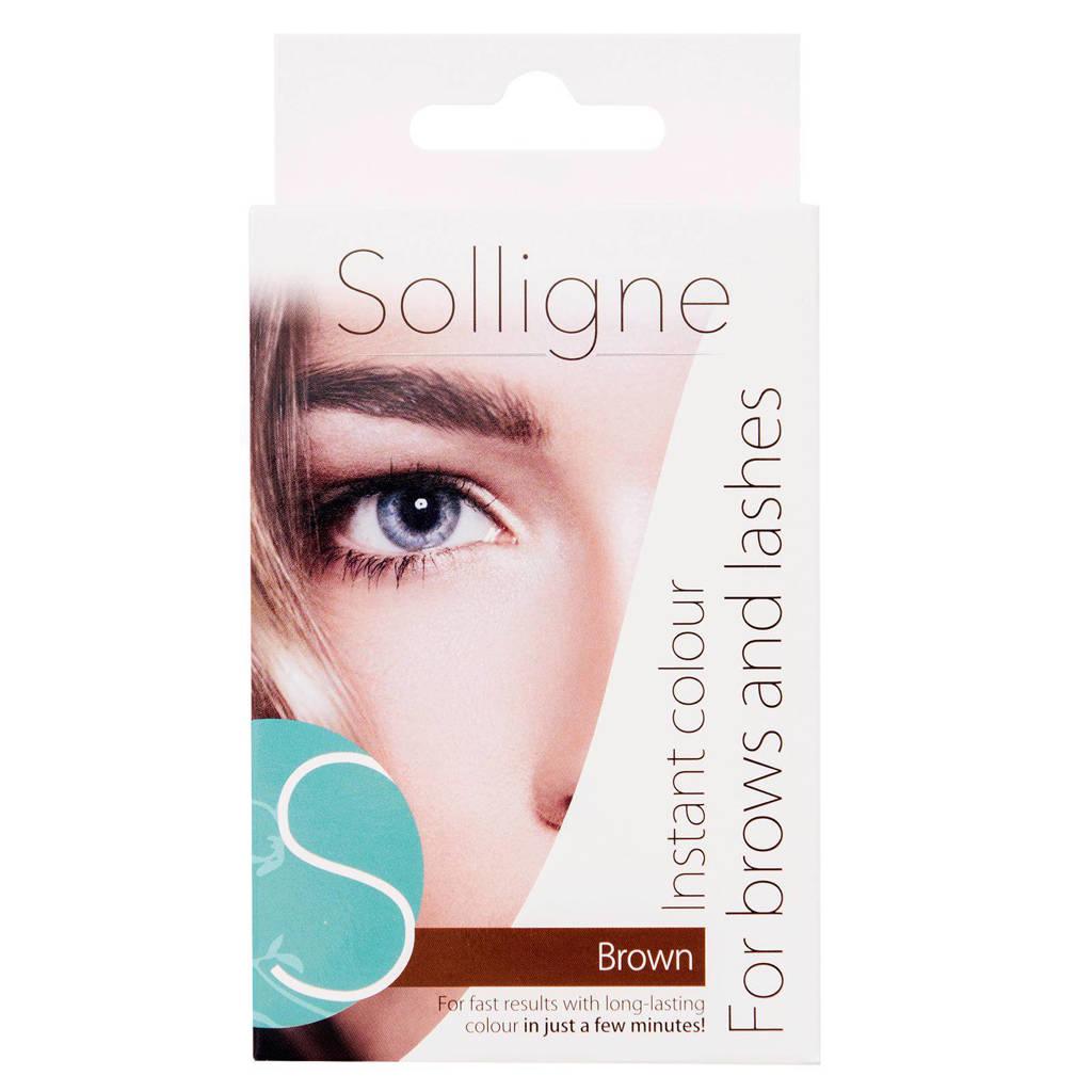 Solligne Instant Colour wenkbrauw- & wimperverf - bruin, Bruin