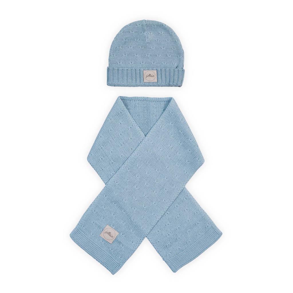 Jollein soft knit mutsje 2-9 mnd soft blue