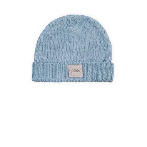 Jollein soft knit mutsje 2-9 mnd soft blue kopen