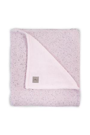 baby ledikantdeken 100x150cm Confetti Knit vintage pink/teddy