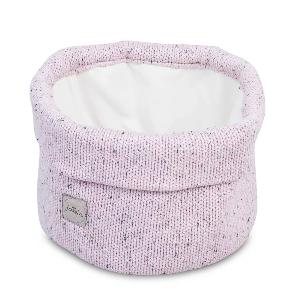 Jollein Confetti knit mandje vintage pink, Vintage Pink