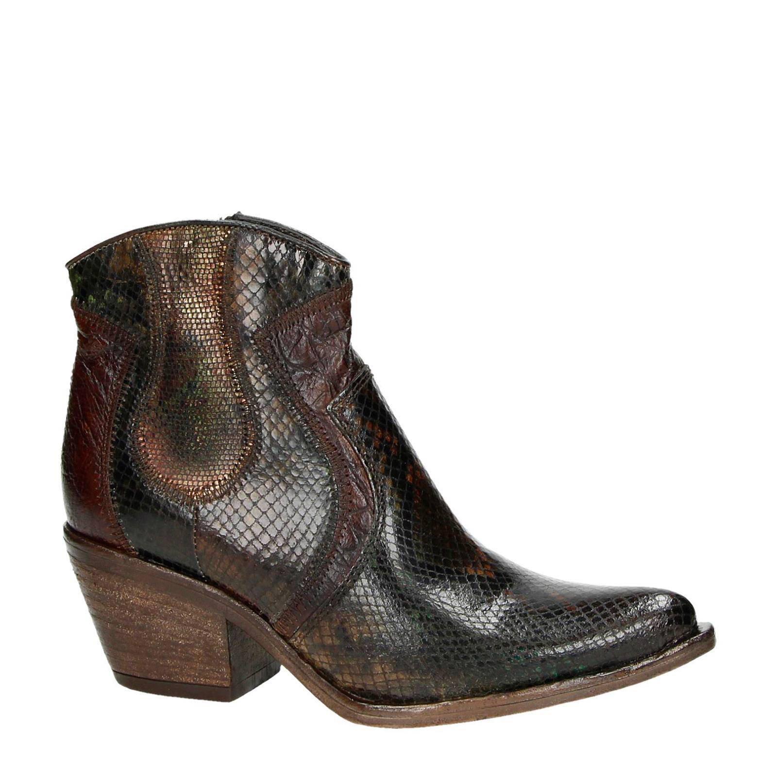 Mjus leren cowboy laarzen | wehkamp
