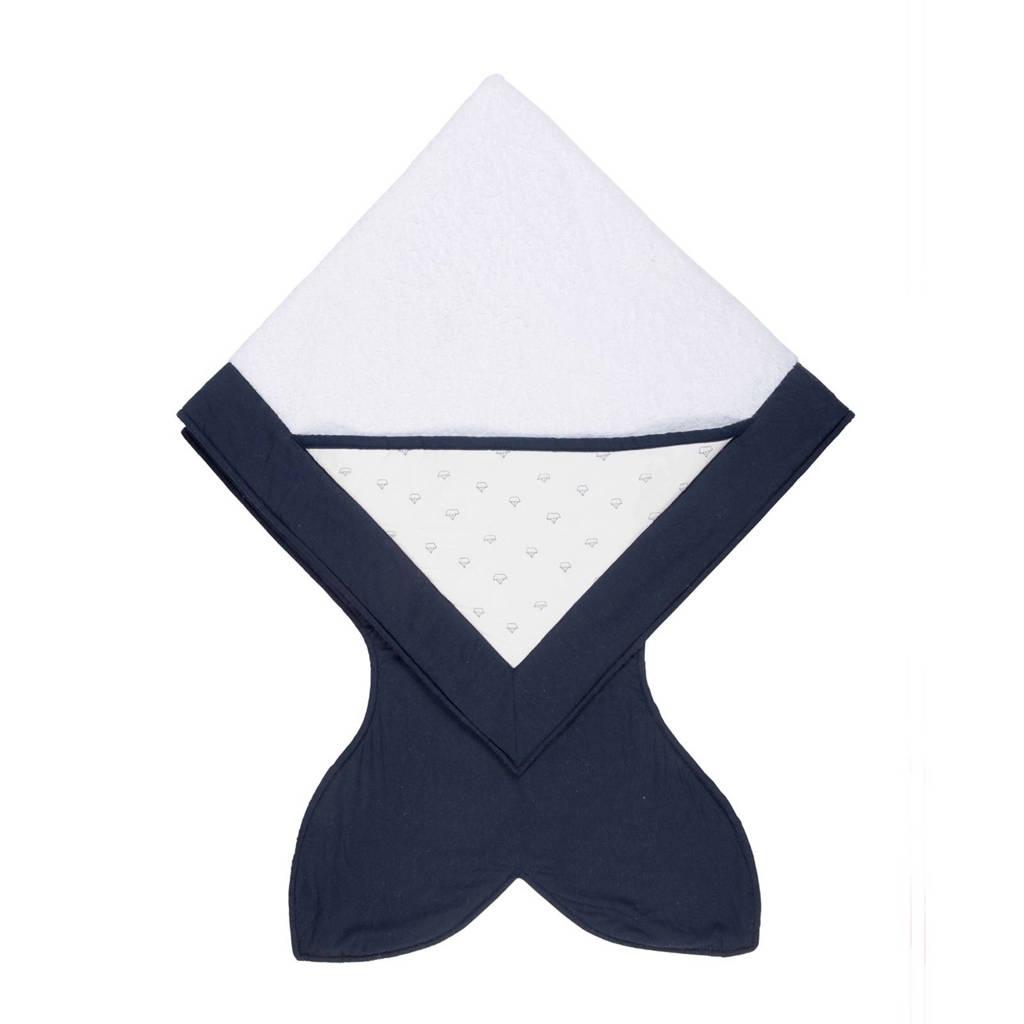 Baby Bites handdoek navy blue, Navy blue/boats