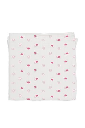 hydrofiel doek 120x120 cm pink clouds