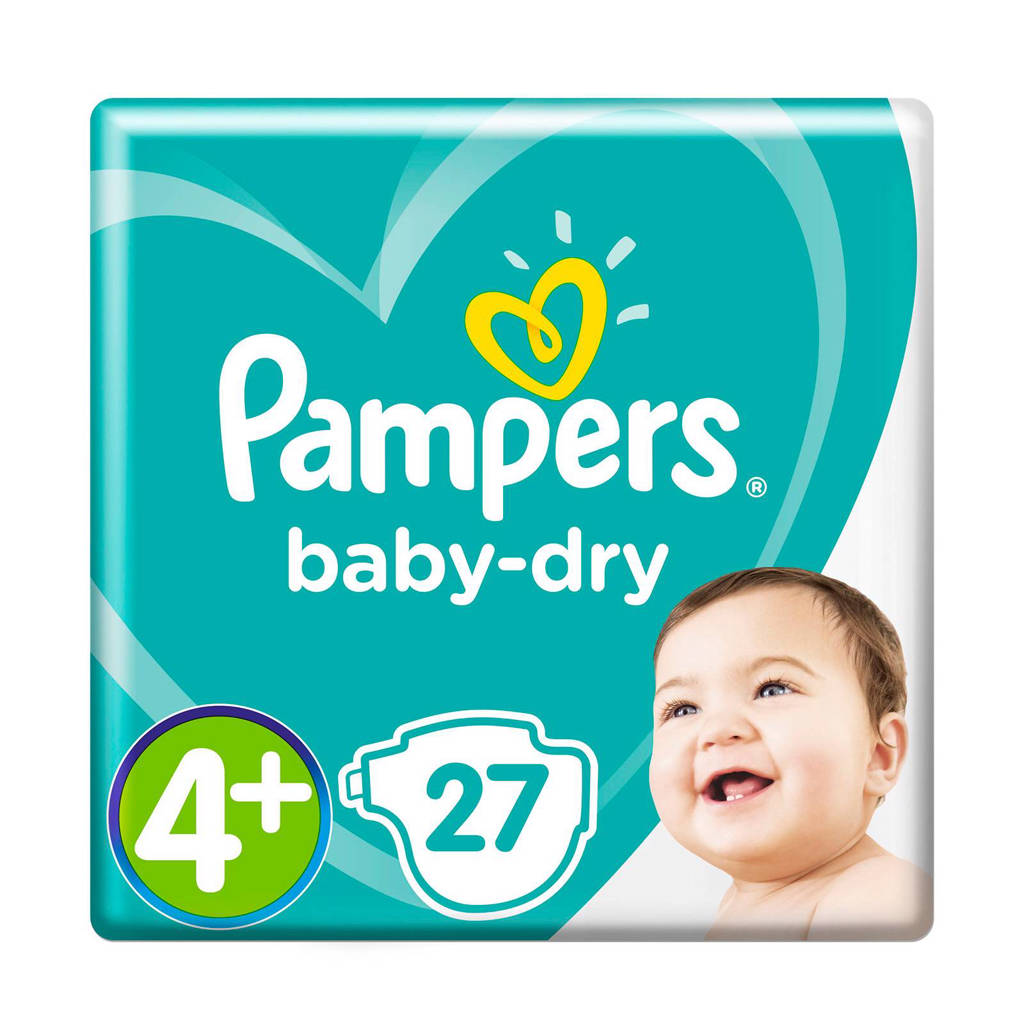 Pampers Baby-Dry maat 4+ (10-15 kg) 27 luiers