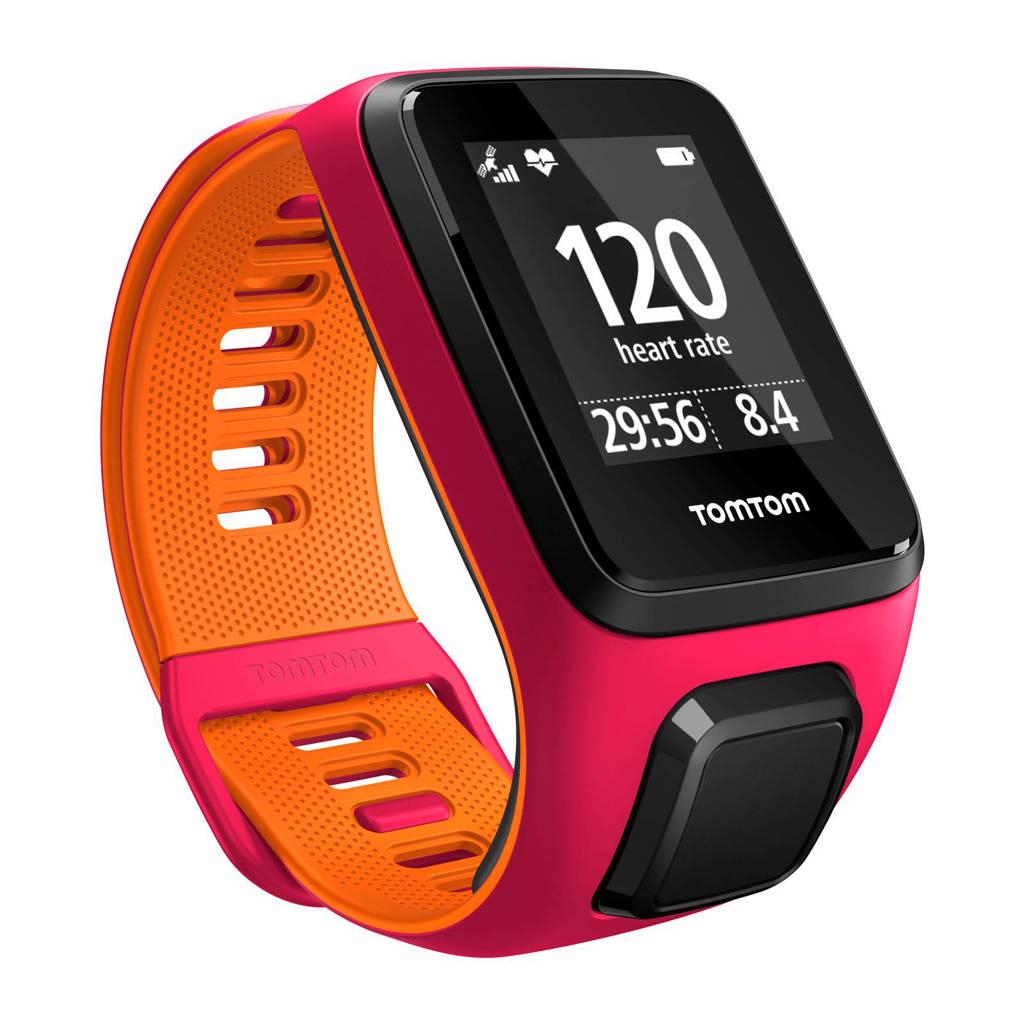 TomTom Runner 3 Cardio GPS-horloge, Roze/oranje
