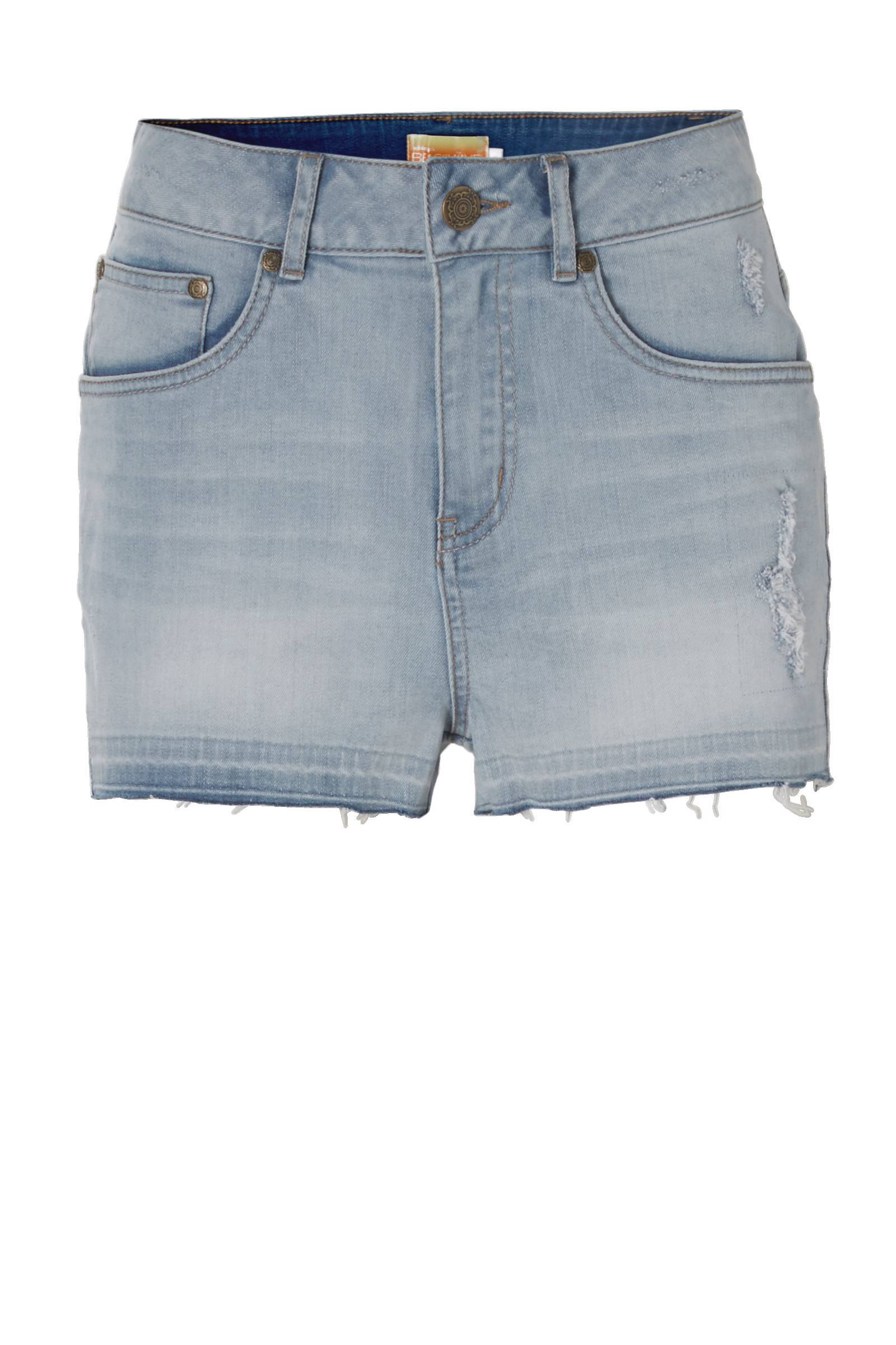 whkmp's beachwave high waist denim short (dames)