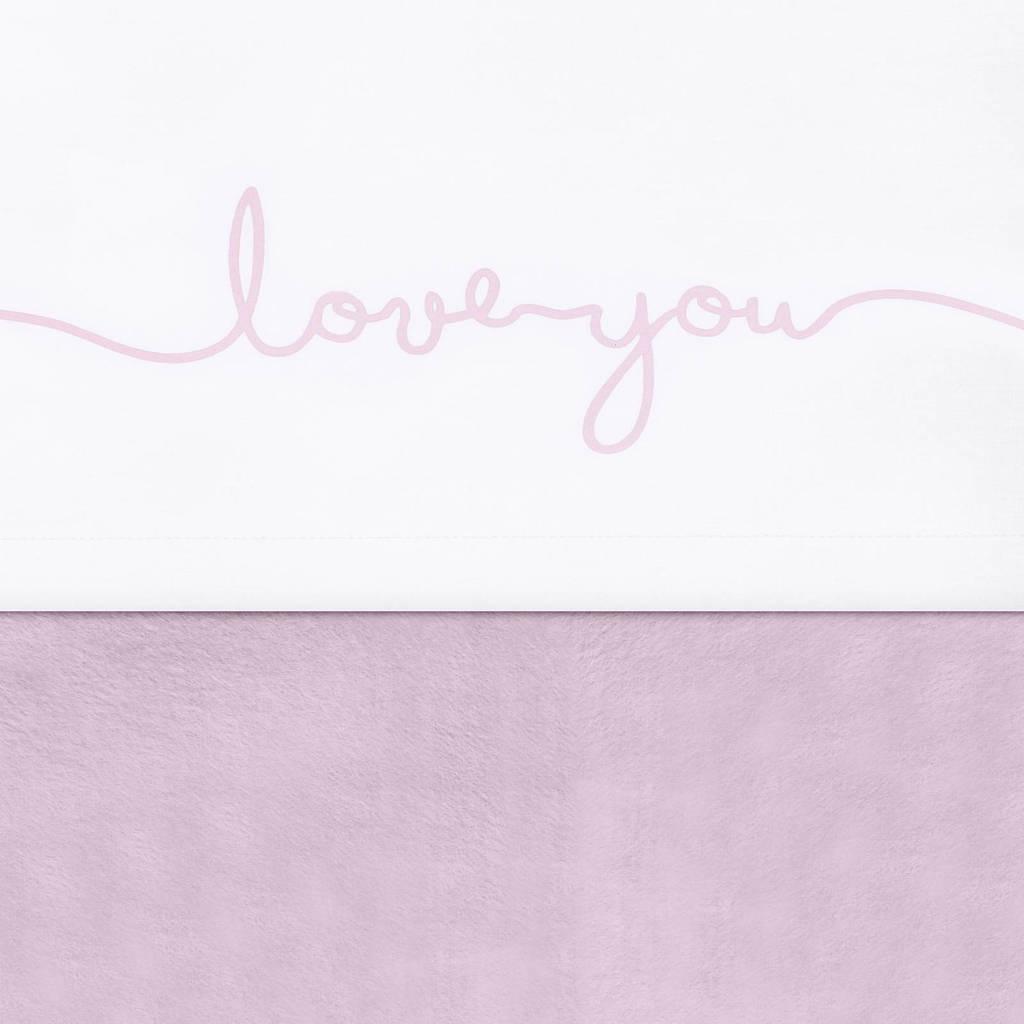 Jollein laken 120x150cm Love you vintage pink, Vintage Pink