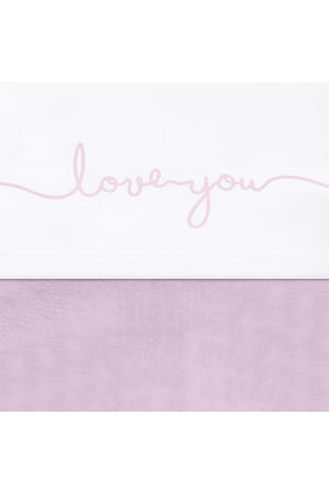 laken 120x150cm Love you vintage pink