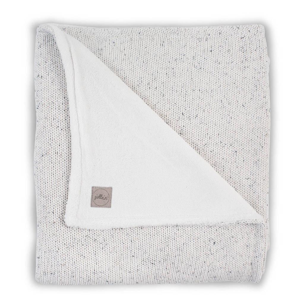 Jollein wiegdeken 75x100cm Confetti Knit natural/teddy, Natural