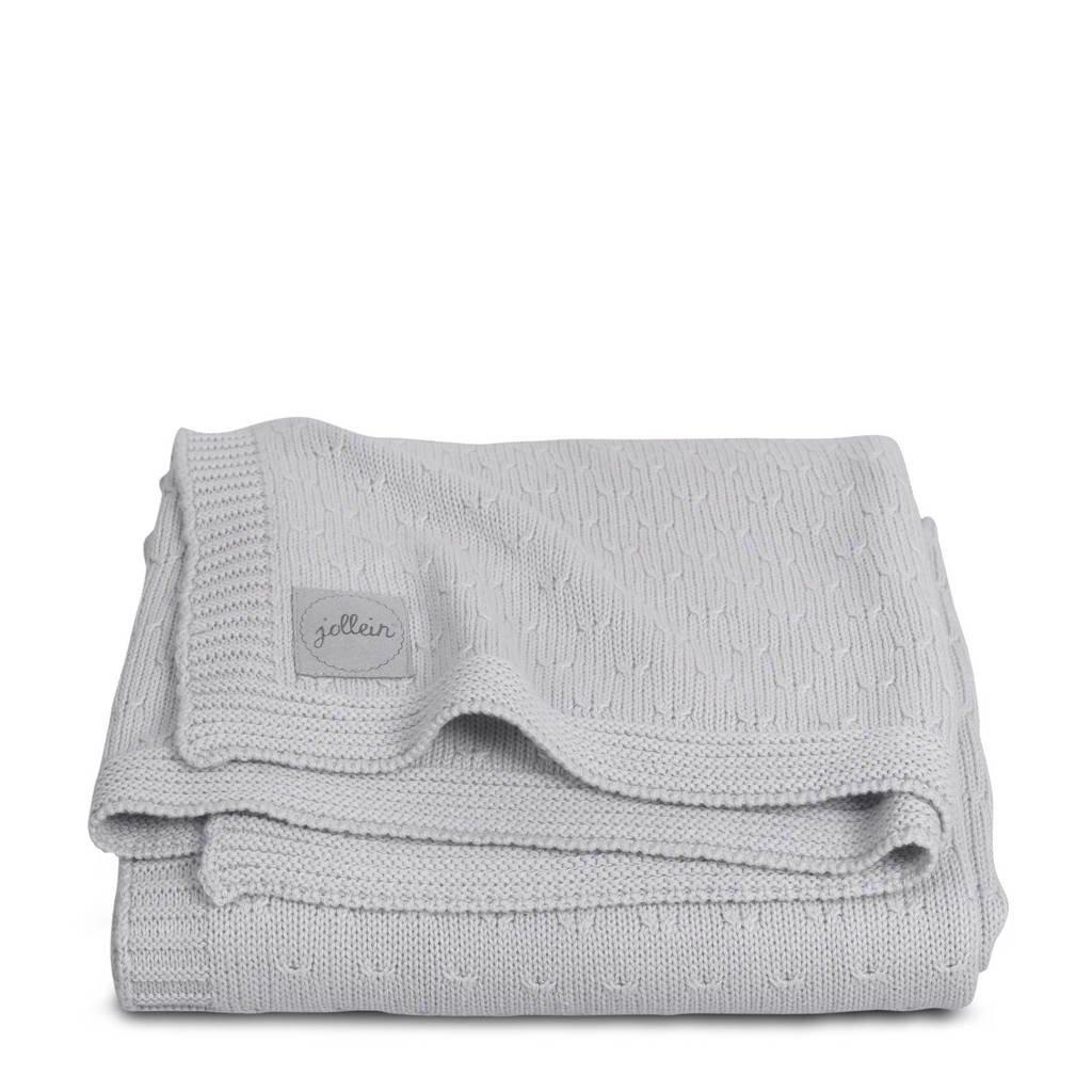 Jollein baby wiegdeken 100x150 cm Soft knit light grey, Light Grey