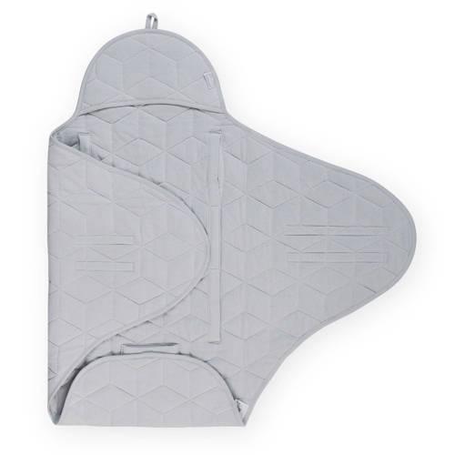Jollein wikkeldeken Graphic quilt grey kopen