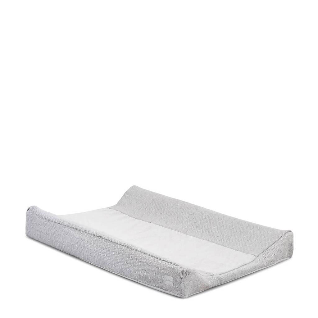 Jollein Soft Knit aankleedkussenhoes 50x70cm light grey, Licht grijs