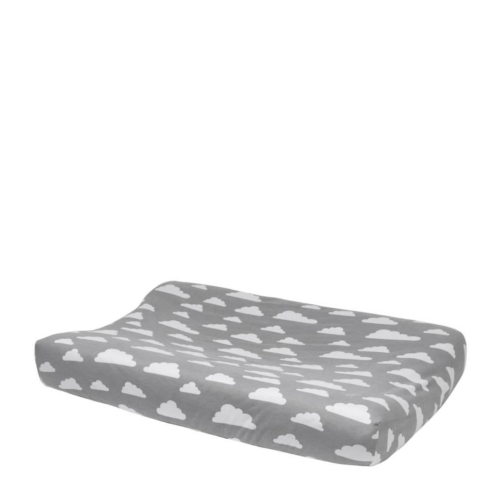 Meyco Little Clouds aankleedkussenhoes 45x70 cm grijs, Grijs
