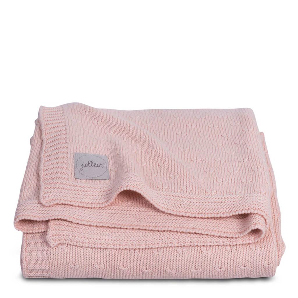 Jollein deken 75x100cm Soft knit creamy peach, Creamy peach