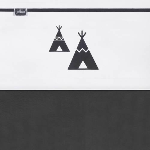 laken 75x100cm Indians tipi zwart-wit