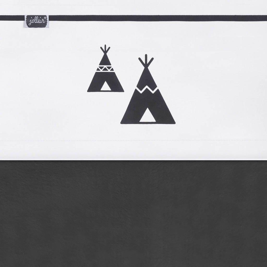Jollein laken 75x100cm Indians tipi zwart/wit, Zwart/wit