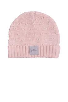 soft knit mutsje 9-18 mnd creamy peach