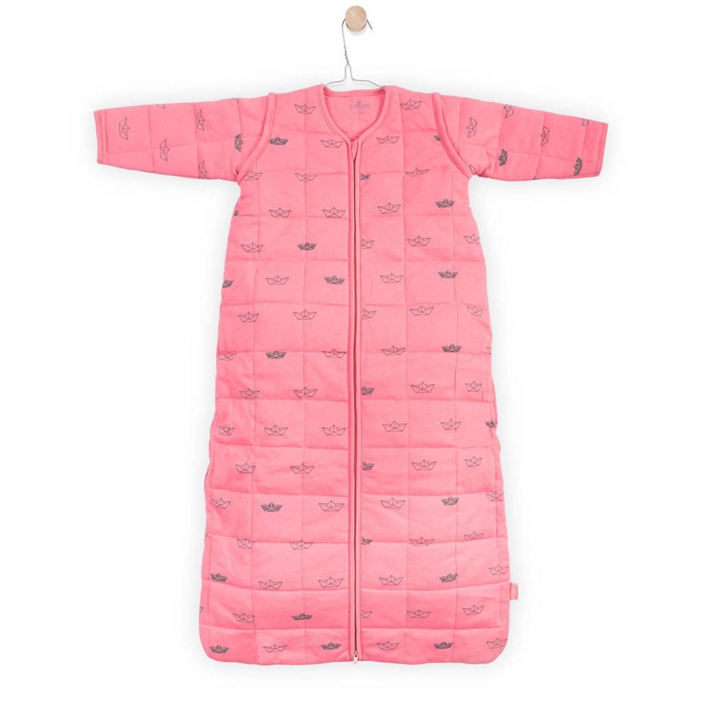 Jollein Little boats baby slaapzak 4-seizoenen 90 cm coral pink, Roze