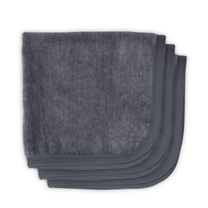 Velvet terry monddoekjes 30x30 cm (3 stuks) antraciet
