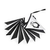 Jollein canvas slinger 300 cm pinguïn, Zwart/wit