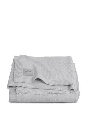 deken 100x150cm Soft knit light grey / teddy