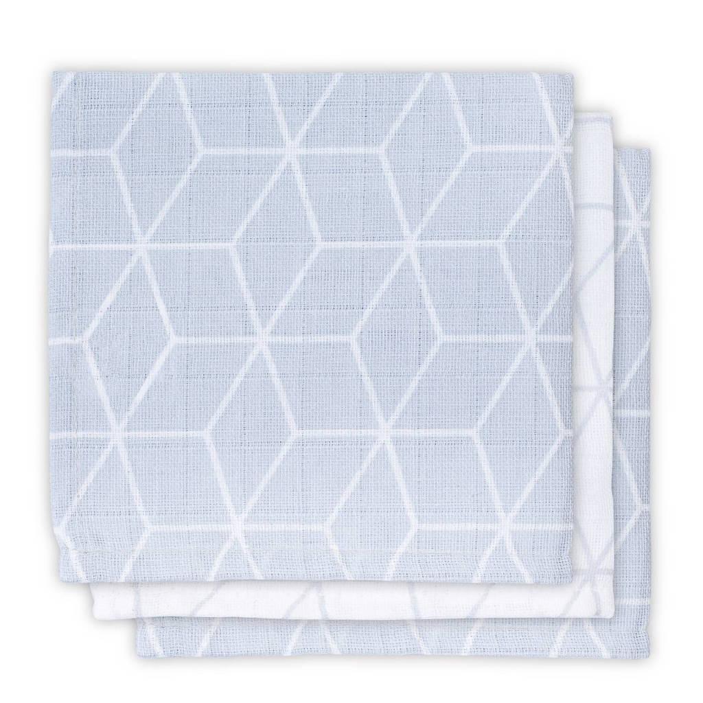 Jollein Graphic hydrofiele monddoekjes 31x31 cm (3 stuks) grijs, Grijs