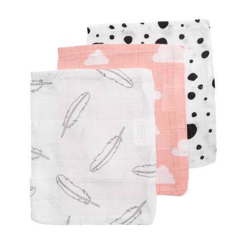 Meyco hydrofiele washandjes (set van 3) roze/grijs/wit