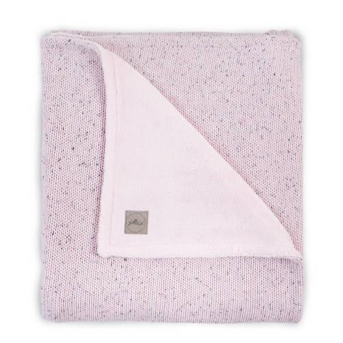 wiegdeken 75x100cm Confetti Knit vintage pink-teddy