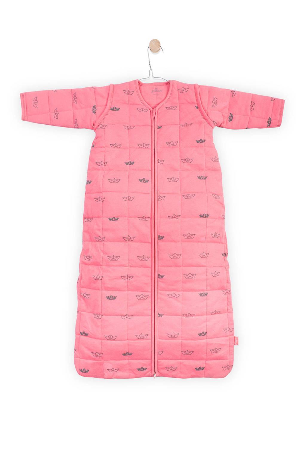 Jollein Little boats baby slaapzak 4-seizoenen 110 cm coral pink, Coral pink