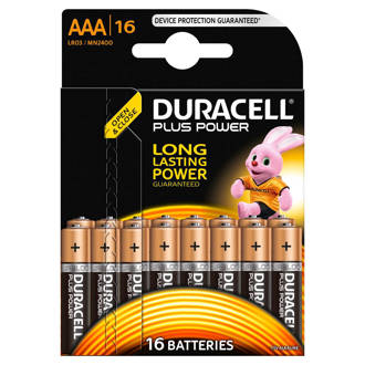 AAA plus power alkaline batterijen 16 stuks
