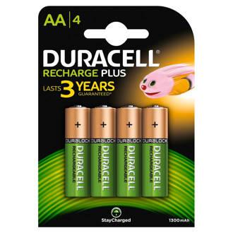 AA plus oplaadbare batterijen 4 stuks