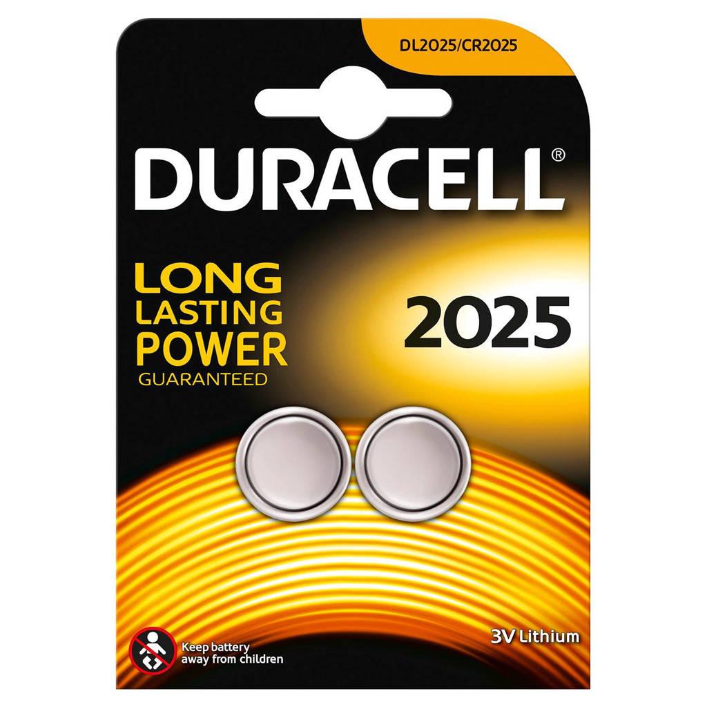 Duracell 2025 lithium knoopcel batterijen 2 stuks