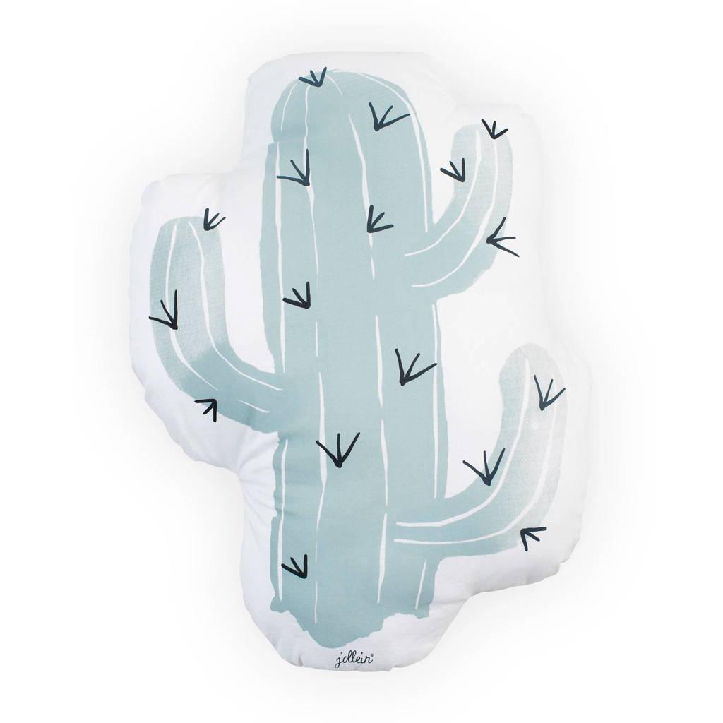 Jollein sierkussen Cactus (33x26 cm), Groen/wit