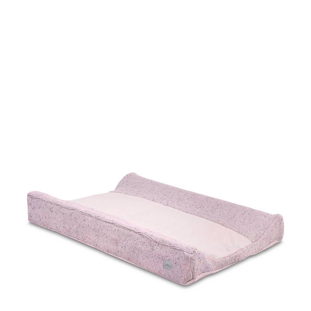Jollein Confetti Knit aankleedkussenhoes 50x70 cm grey, Vintage Pink