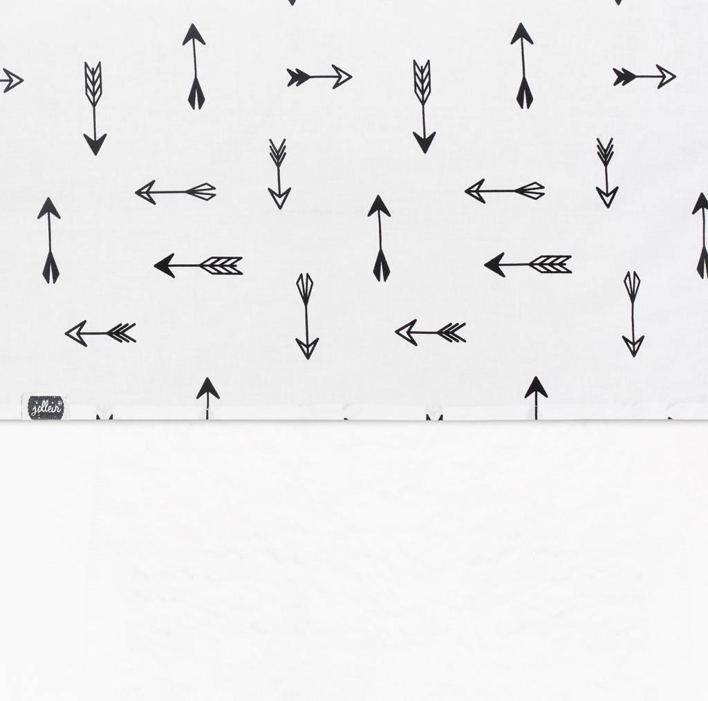 Jollein laken 120x150cm Indians arrow zwart/wit, Zwart/wit