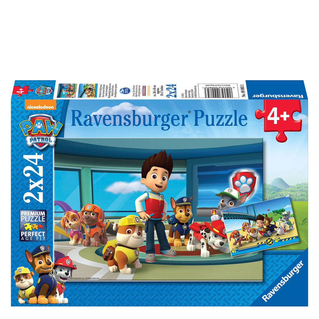 Ravensburger Paw Patrol hulpvaardige speurneuzenset  legpuzzel 48 stukjes