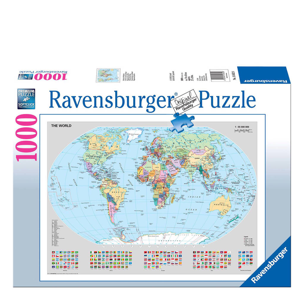 Ravensburger staatkundige wereldkaart  legpuzzel 1000 stukjes