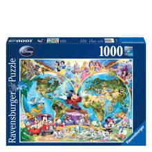 Disney wereldkaart  legpuzzel 1000 stukjes