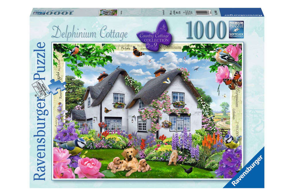 Ravensburger Delphinium cottage  legpuzzel 1000 stukjes