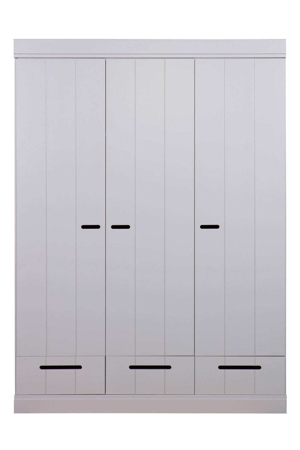 Woood 3-deurs kledingkast Connect, Lichtgrijs