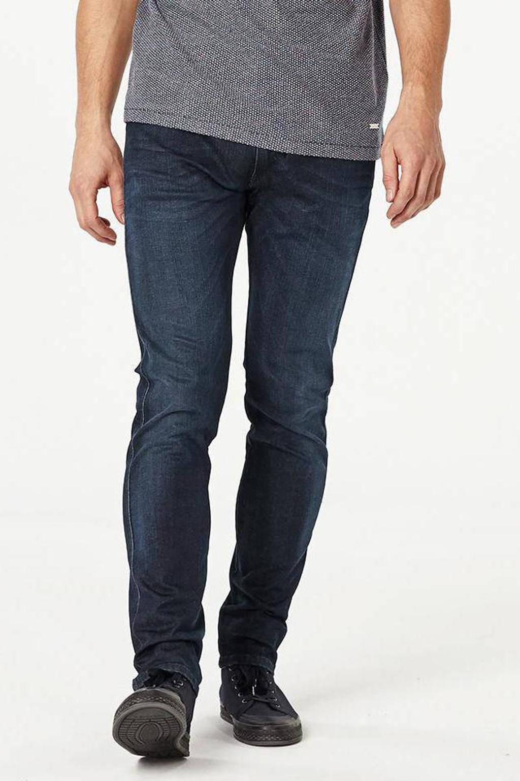 REPLAY slim fit jeans Anbass Hyperflex donkerblauw, Donkerblauw