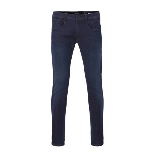 REPLAY slim fit jeans Anbass Hyperflex donkerblauw