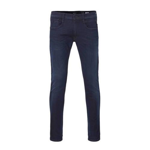 REPLAY slim fit jeans Anbass Hyperflex donkerblauw