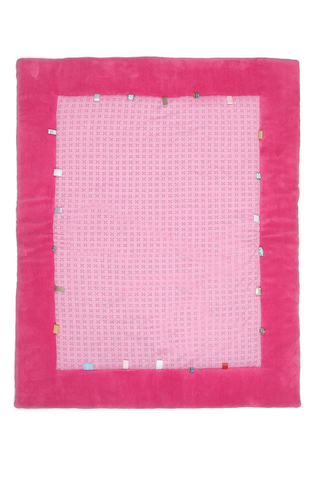 Snoozebaby Cheerful Playing boxkleed 85x105 cm funky pink, Funky Pink