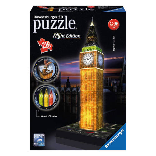Ravensburger 3d puzzel: big ben by night
