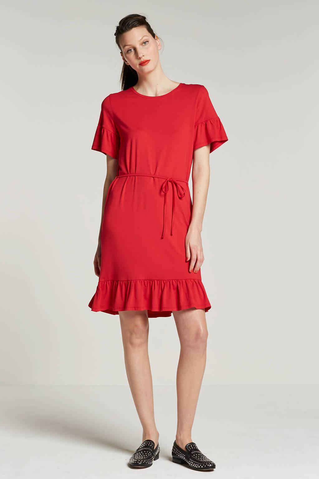 modström Gizelle jersey jurk, Rood