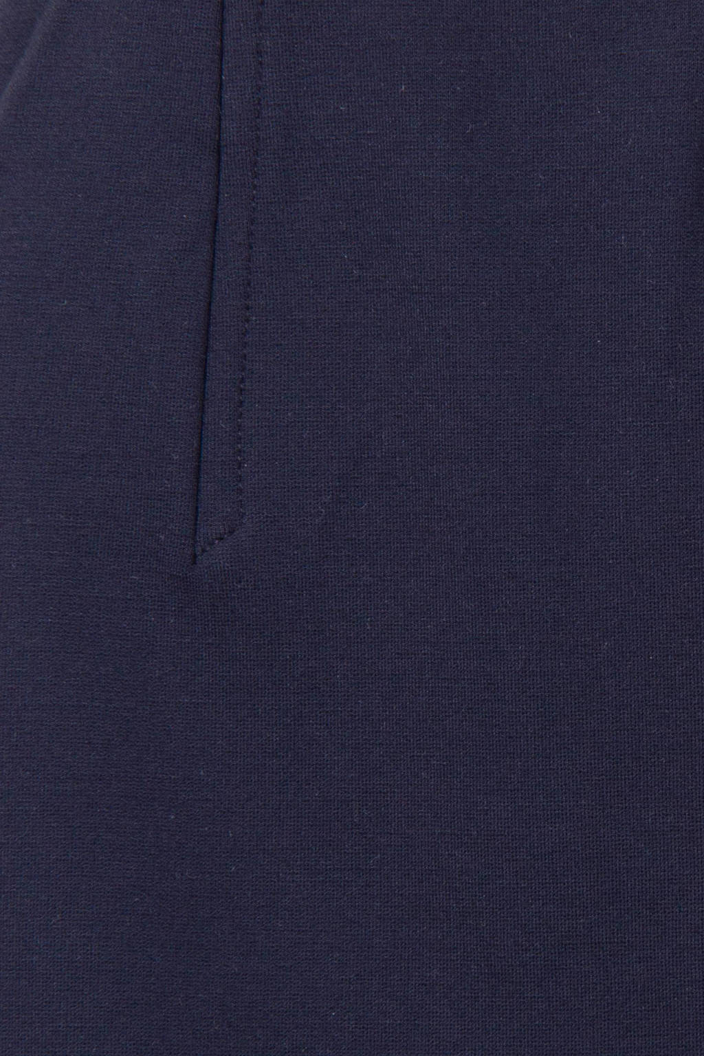 Promiss kokerrok donkerblauw stretch, Donkerblauw